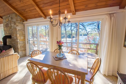 South Wellfleet Cape Cod vacation rental - Dining area with view of the bay.
