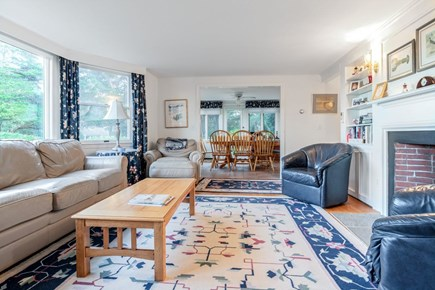 East Orleans Cape Cod vacation rental - Family room leading to dining area. Central air.