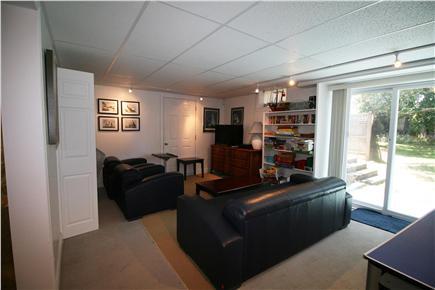 HarwichPort Cape Cod vacation rental - Bsmt: DirectTV, Laundry, shower / bathroom + Air hockey!