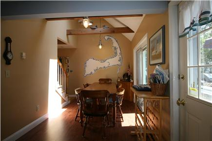 HarwichPort - 200 yds to beach Cape Cod vacation rental - Dining area  - comfortable seating for 8 - walkout to deck & BBQs