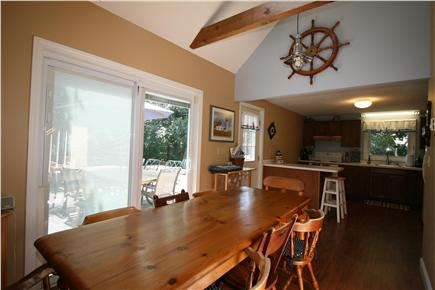 HarwichPort - 200 yds to beach Cape Cod vacation rental - Family meals: fully equipped kitchen & dining for 8, inside & out