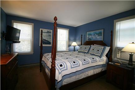 HarwichPort Cape Cod vacation rental - Master BR has A/C and new 32'' flatscreen (Direct TV  Satellite)