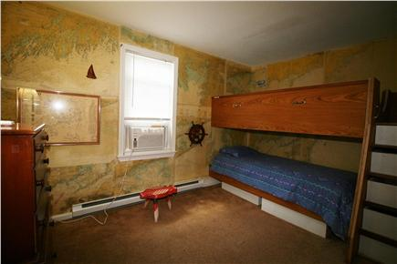 Harwich Port - 200 yds to beac Cape Cod vacation rental - Bed 3 - A/C, twin bunks, glimpse of the Sound & a working Wheel!
