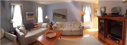 HarwichPort - 200 yds to beach Cape Cod vacation rental - Living Room - 2 lg couches, comfy chair, DirecTV DVR / DVD etc