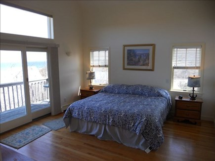Wellfleet Cape Cod vacation rental - Master bedroom with king bed, private bath, and balcony deck