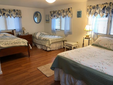 South Yarmouth/Bass River Cape Cod vacation rental - 2nd bedroom w/ 2 twin and 1 queen bed. Spacious w/ large closet