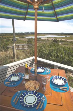 East Sandwich Cape Cod vacation rental - Back deck overlooking Scorton Creek