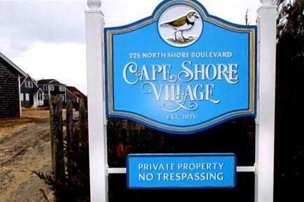 East Sandwich Cape Cod vacation rental - Cape Shore Village Sign