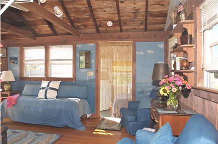 East Sandwich Cape Cod vacation rental - Living room Area with Sofa Bed