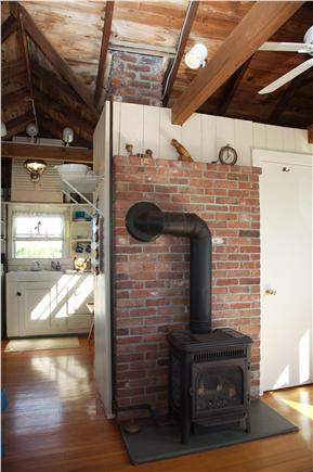 East Sandwich Cape Cod vacation rental - Wood stove in Living room
