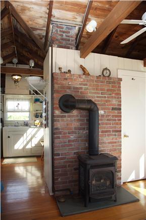 East Sandwich Cape Cod vacation rental - Wood stove in Livingroom
