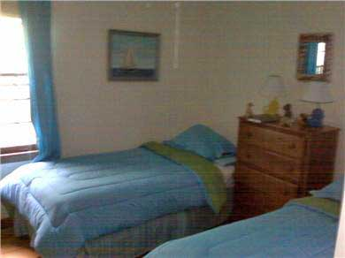 Harwich Port Cape Cod vacation rental - Twin Bedroom- 3rd bedroom w Trundle bed not shown- ceiling fan