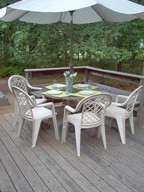 Harwich Port Cape Cod vacation rental - Deck for dining al fresco!!