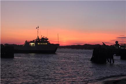 Woods Hole Woods Hole vacation rental - Sunset over Steamship Authority Ferry