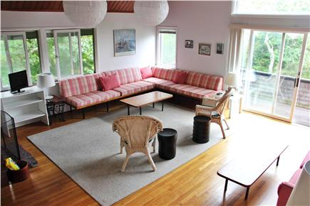 Woods Hole Woods Hole vacation rental - Living Room viewed from Entrance Foyer