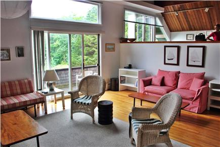 Woods Hole Woods Hole vacation rental - Living Room looking towards Back Deck