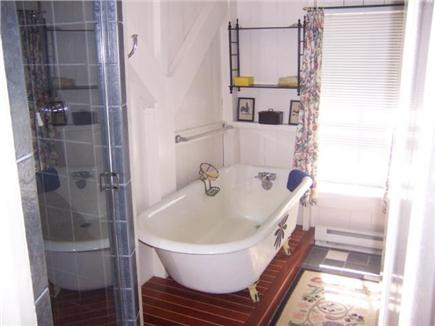 Centerville, Craigville Village Cape Cod vacation rental - Full bath with shower and claw foot tub