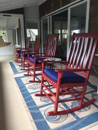 Centerville, Craigville Village Centerville vacation rental - Enjoy the lovely view of Lake Elizabeth from the screened porch.