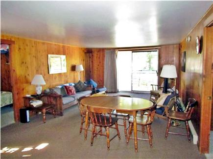 Truro Cape Cod vacation rental - Living room and dining area