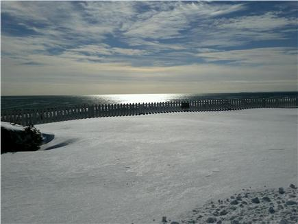 New Seabury, Mashpee New Seabury vacation rental - Winter view of private beach with spectacular views