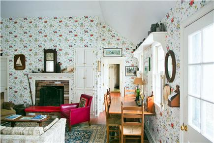 Harwich Port Cape Cod vacation rental - Open kitchen, living room and dining area