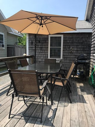 South Yarmouth/Bass River Cape Cod vacation rental - Deck with BBQ and seating area