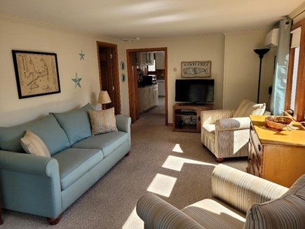Dennis Port Cape Cod vacation rental - Living room with pull out sofa