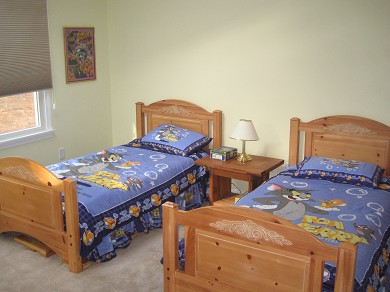 Wellfleet Cape Cod vacation rental - Guest Bedroom 3 with 2 twins/Cable TV/DVD