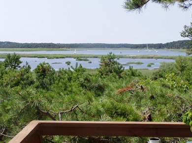 Wellfleet Cape Cod vacation rental - View to West off Sunset Deck