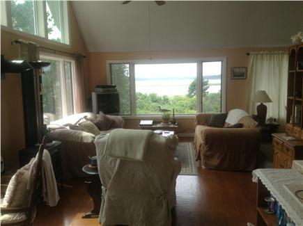 Wellfleet Cape Cod vacation rental - Living Room West View