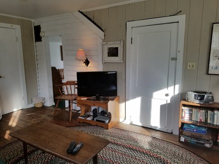 Harwich Port Cape Cod vacation rental - Family room with TV,DVD & VCR,, games and books...
