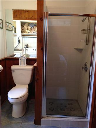 Chatham Cape Cod vacation rental - 2nd bathroom with tiled shower stall & washer/dryer