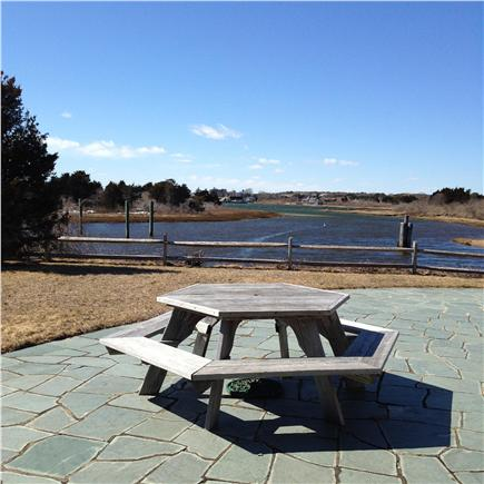 Chatham Cape Cod vacation rental - Picnic table overlooking water