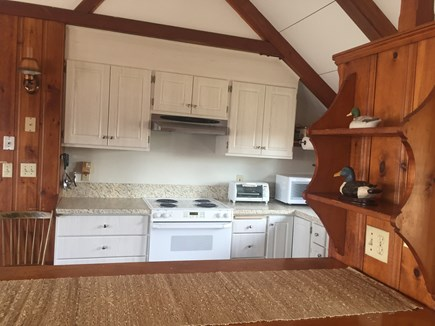 Chatham Cape Cod vacation rental - Cathedral ceiling galley kitchen