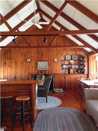 Chatham Cape Cod vacation rental - Cathedral ceiling dining area w/ bay window seating on right