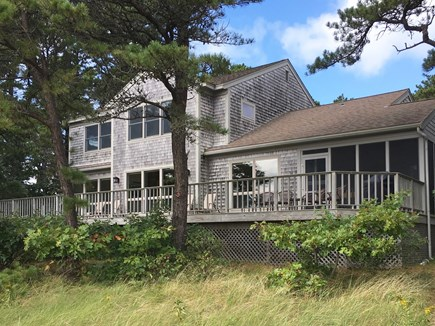 Wellfleet Cape Cod vacation rental - Waterfront side of the house