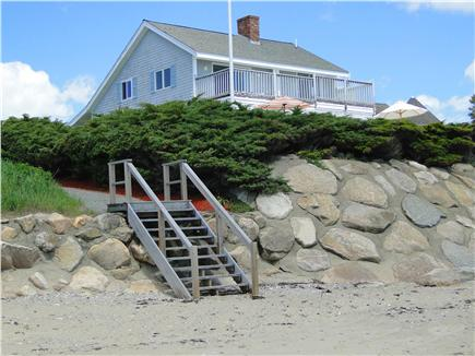 Mashpee (Popponesset) private  Cape Cod vacation rental - View of house from the private beach