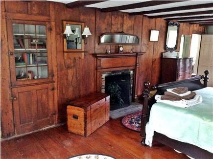 North Eastham Cape Cod vacation rental - 1st floor Master BR w/king bed, original fireplace and cupboard