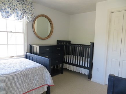 Harwich, H'port Walk to Beach & Town Cape Cod vacation rental - Two twin beds and new Pottery Barn full size crib