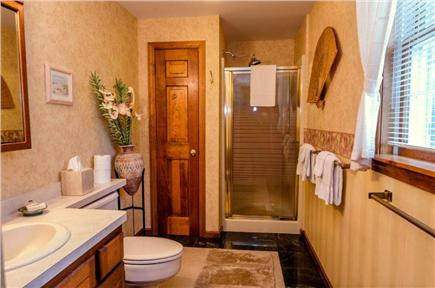 East Orleans Cape Cod vacation rental - Master Bedroom #1 bath with Italian marble floor.