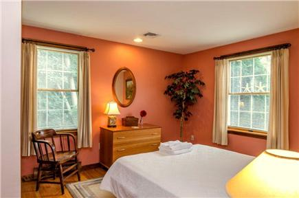 East Orleans Cape Cod vacation rental - Bedroom #2.  Queen bed.  Scandinavian furniture.