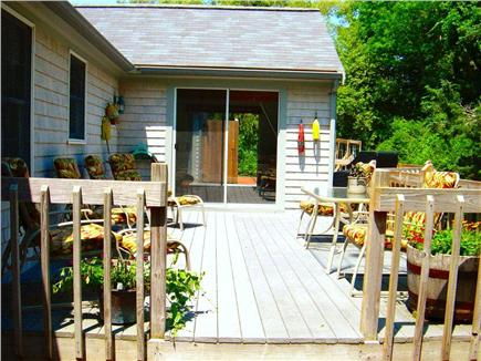 East Orleans Cape Cod vacation rental - Sunbathing, grilling on the Weber grill and dining on the deck.