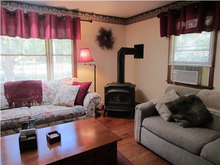 East Falmouth Cape Cod vacation rental - Living room with Gas Fireplace