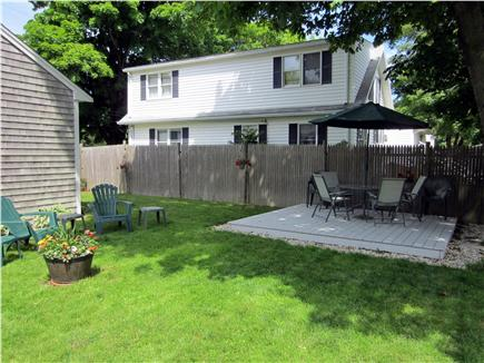 East Falmouth Cape Cod vacation rental - Large fenced-in back yard for relaxing