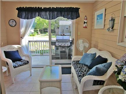 East Falmouth Cape Cod vacation rental - Sun Room leads to fenced-in back yard