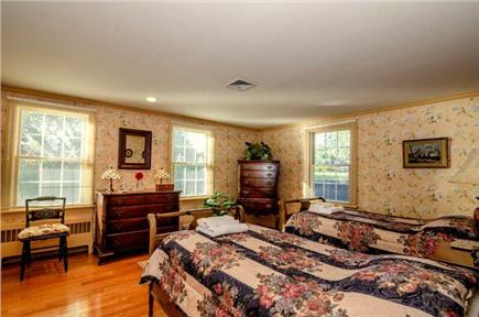 East Orleans Cape Cod vacation rental - Garden view Bedroom #3.  Two twin beds.