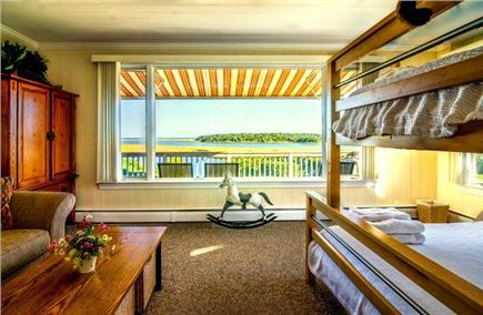 East Orleans Cape Cod vacation rental - Ocean view Bedroom #4.  Bunk bed for three. Half bath.