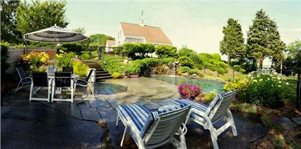 East Orleans Cape Cod vacation rental - 'PebbleTec' heated pool (14X32) with bluestone patio.
