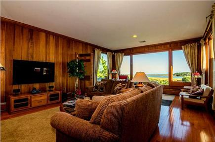 East Orleans Cape Cod vacation rental - Sunken livingroom with access to patio and table tennis.