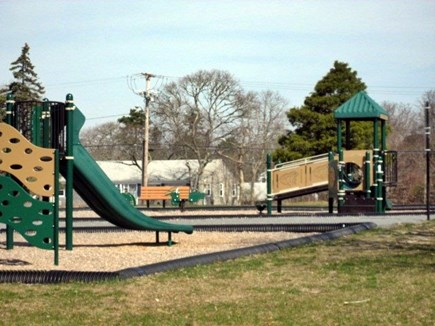 Dennisport - beach-yards away Cape Cod vacation rental - Play Ground, park and trails are only a 2 minute walk away.